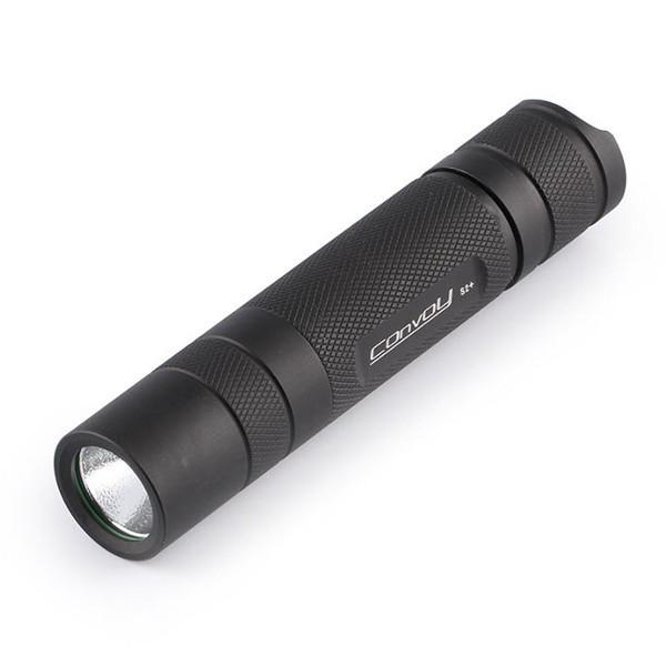 Convoy S2+ Black L2 7135x8 3/5mode EDC LED Flashlight 18650