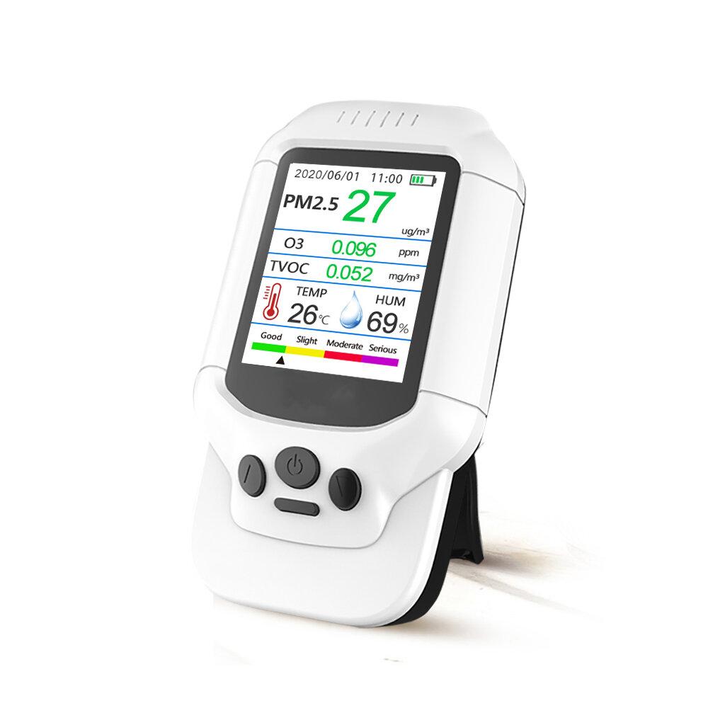 PM2.5 O3 Детектор озона TVOC Тестер качества воздуха USB Инструмент 2.8 LCD Экран Углекислый газ Формальдегид Пыль Измер