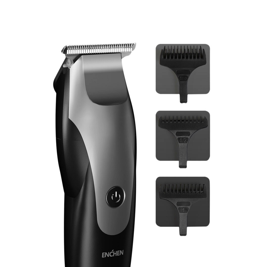 REWELL RFCD-F17 Professional 100-240V Hair Clipper Rechargeable Trimmer Titanium Alloy Blade Cutter Adjustable Comb Fine-Tuning Man Hair Cutting Machine - 2
