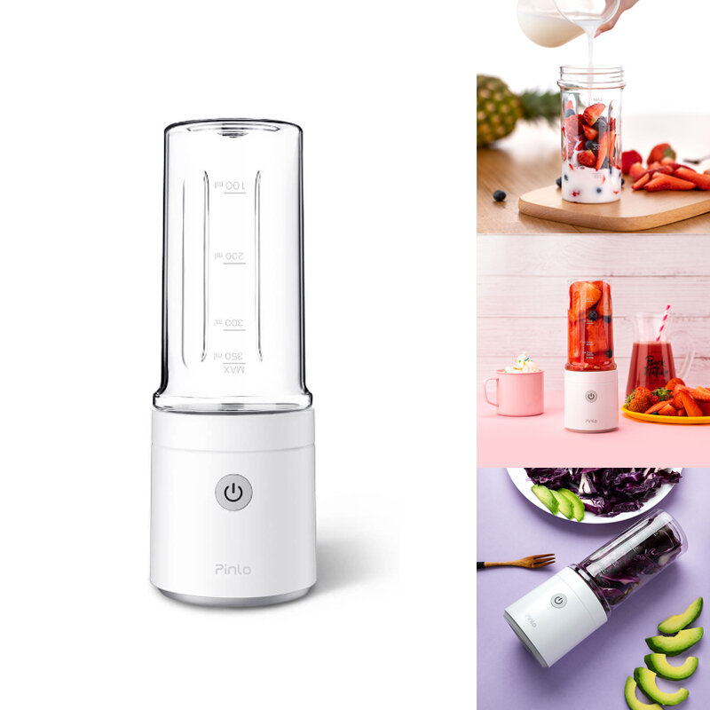 Pinlo 350ml Fruit Juicer Bottle Portable USB Rechargeable DIY Juicing Extracter Cup From Xiaomi youpin