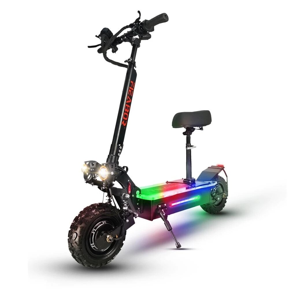 [US DIRECT] FIEABOR Q06P Oil Brake 5600W 60V 27Ah Dual Motor 11 Inch Electric Scooter 200Kg Max Load 80Km/h Max Speed 60-80Km Range