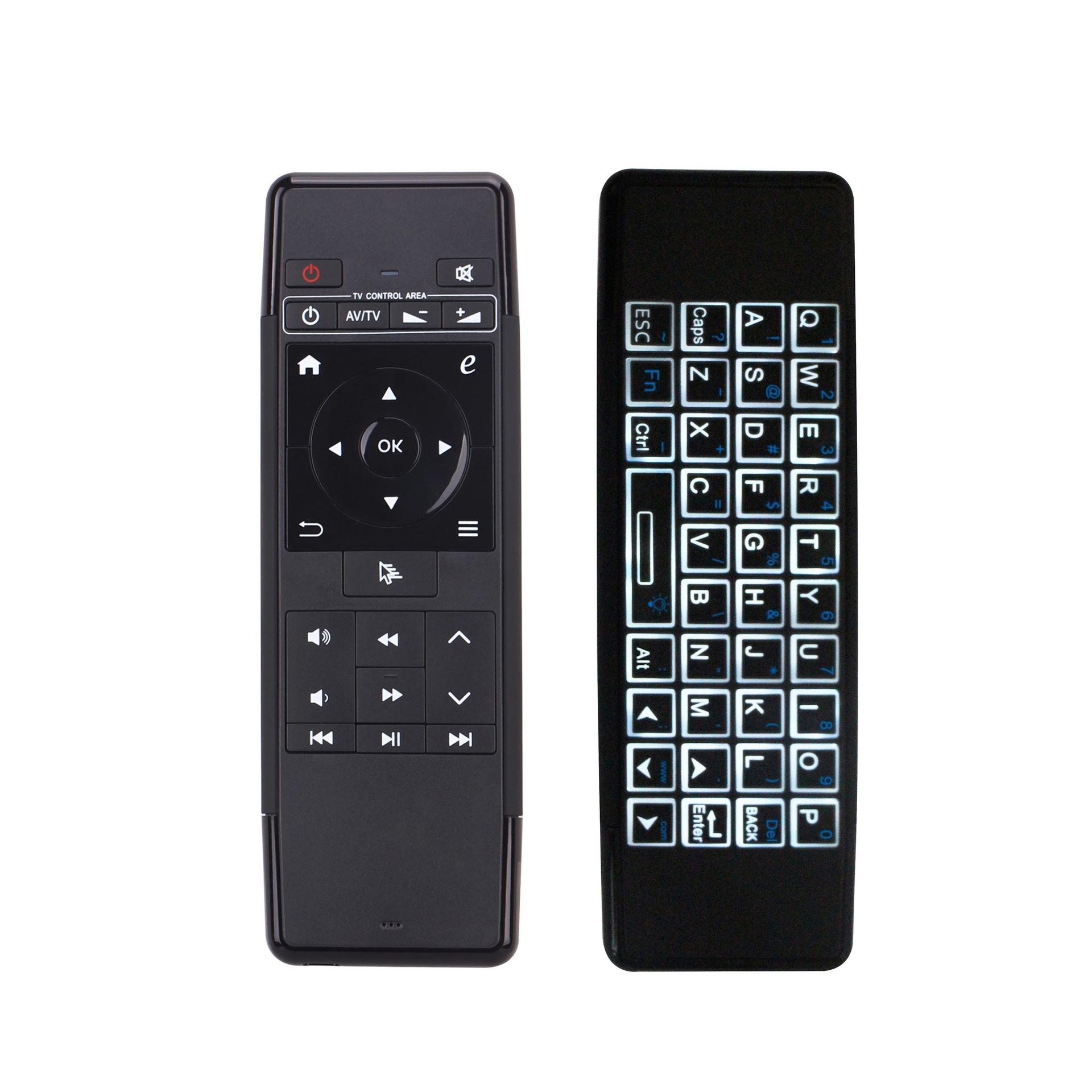Double-Sided Wireless  2.4GHz Air Mouse Mini Keyboard Voice Remote Control For Box HTPC Pc Android TV Project Mini Pc Smart TV