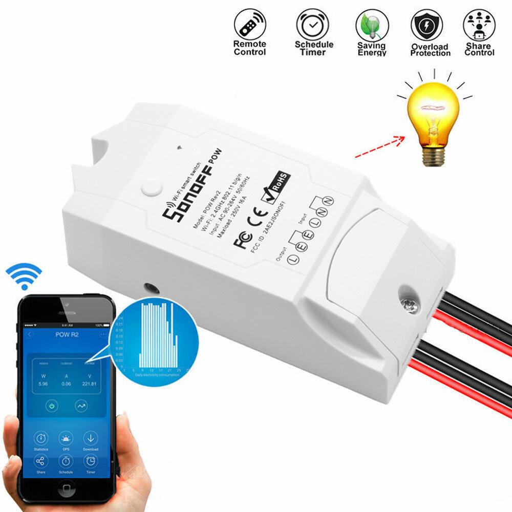 SONOFF® POW R2 AC90-250V 16A 3500W WIFI Wireless APP Remote Control Switch...