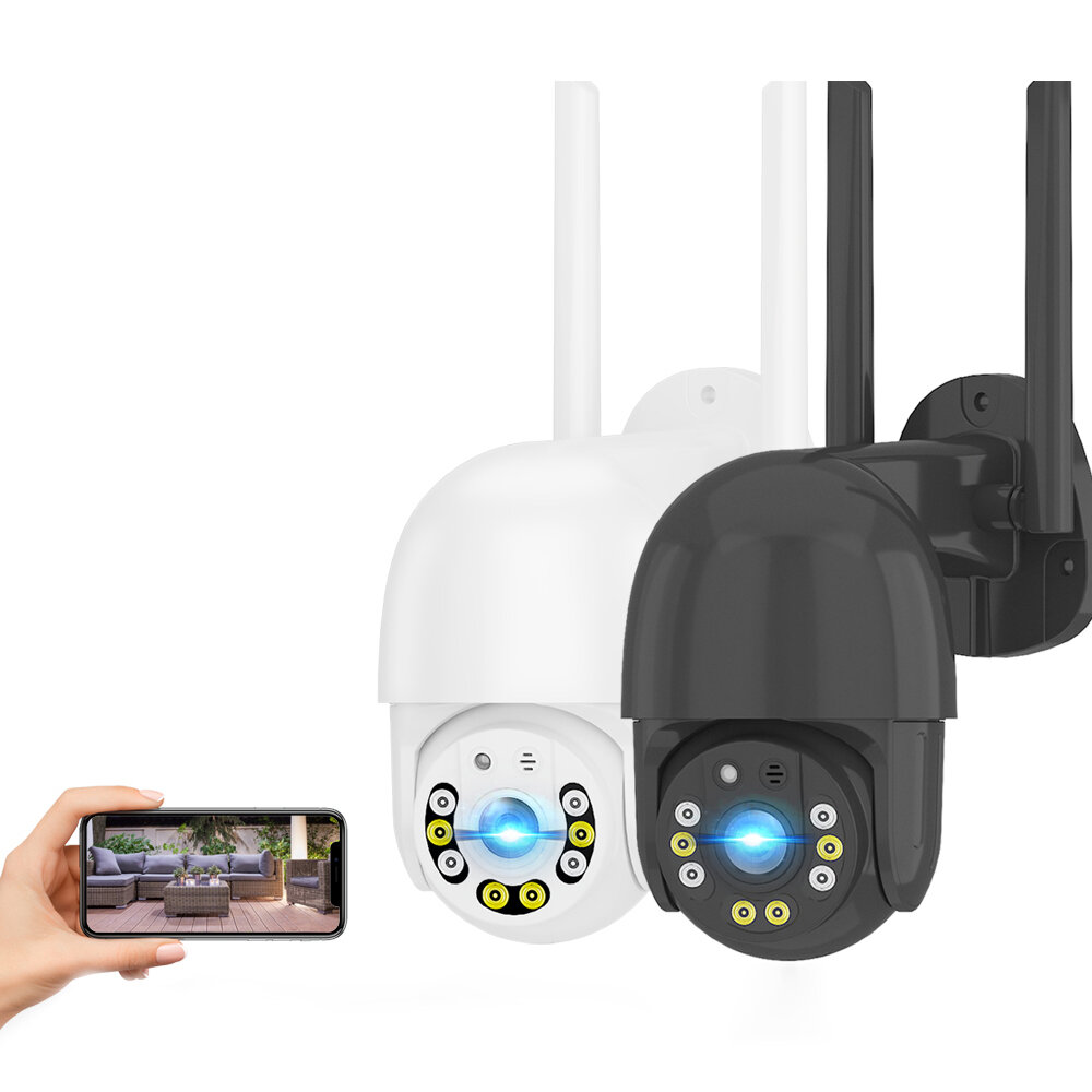 XIAOVV 1080P WIFI Home Security Camera Outdoor V380 Pro 8 LED Wireless Surveillance Camera 2-way Audio Motion Detecting