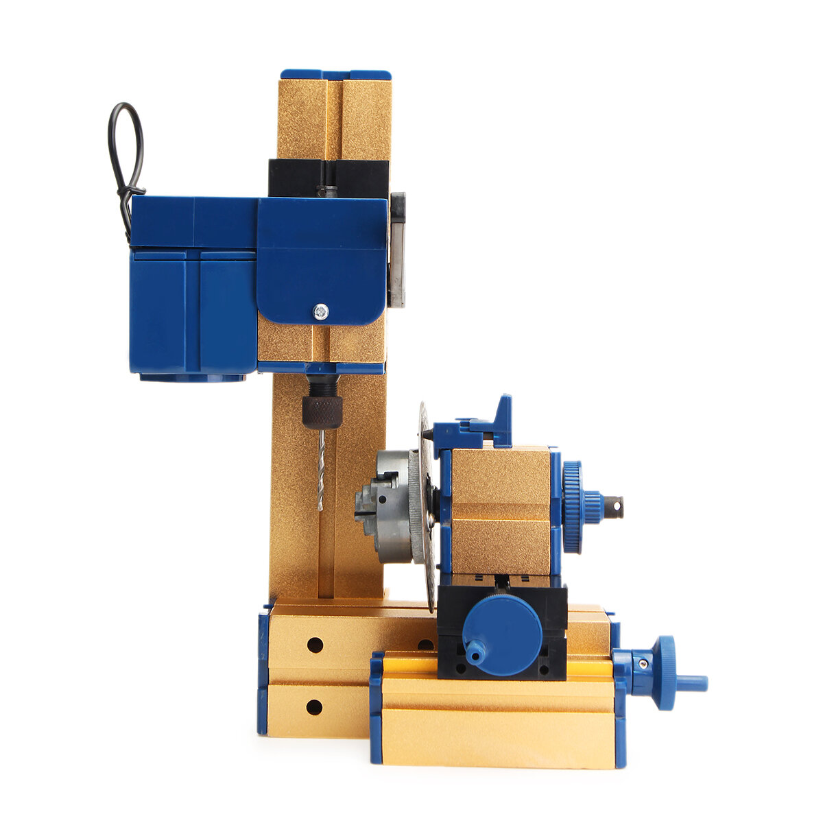 24W DC 12V 2A DIY Mini Lathe Rotary Spin Indexing Milling WorKing Router Table Drilling Machine Electric Drill Power Tools