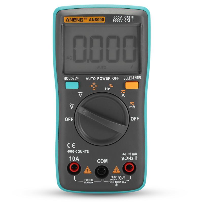 AN8000 Цифровой Мультиметр Вольтметр Амперметр Омметр Вольт AC DC Ом Тестер Метр фото