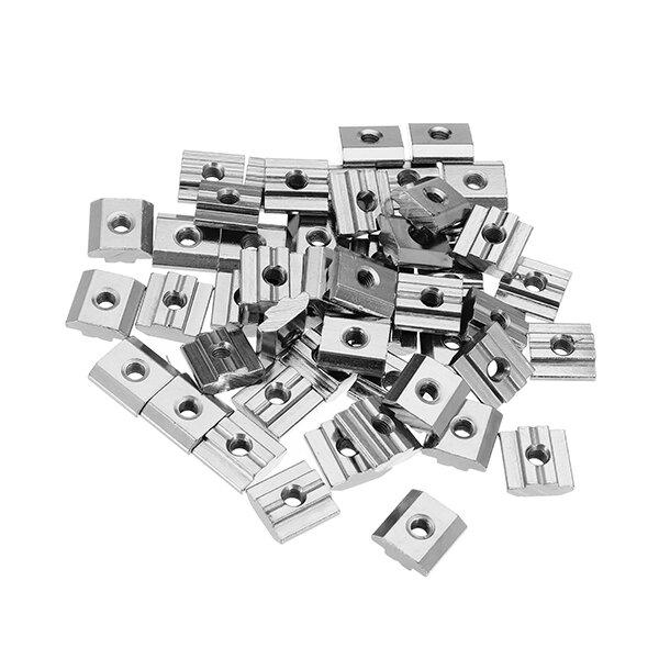 Machifit 50pcs M5 T Sliding Nut Carbon Steel Zin Plated T Sliding Nut for 3030 Aluminum Profile фото