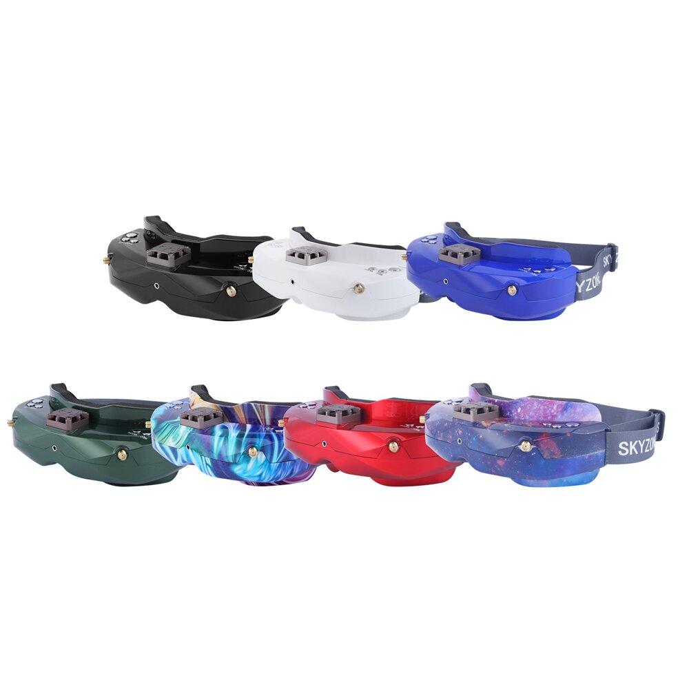 SKYZONE SKY02X 5.8 GHz 48CH Keragaman FPV Kacamata Dengan Kepala Tracker Depan Kamera Fan 2D / 3D HDMI Untuk RC Drone