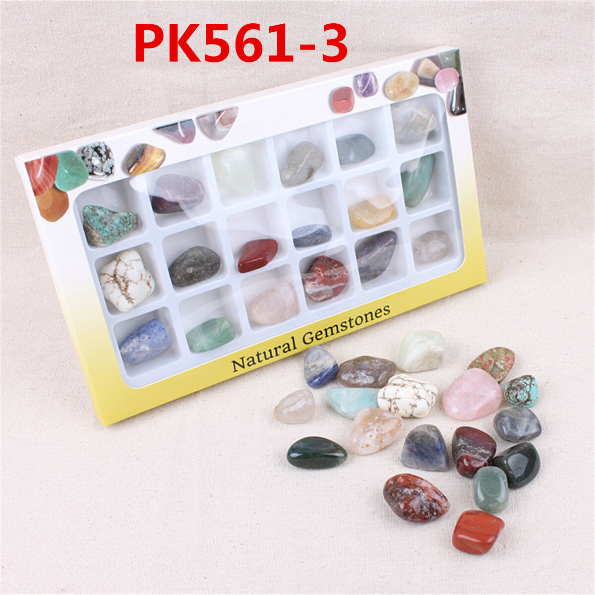 AU Natural Gemstones Stones Variety Collection Crystals Kit Mineral Geological Teaching Materials фото