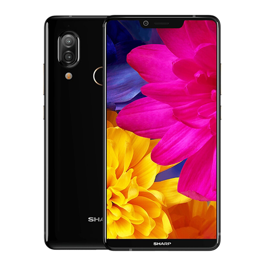 SHARP AQUOS S3 Global Version 6 Inch FHD+ NFC 3200mAh 13.0MP+12.0MP Dual Rear Cameras 4GB 64GB Snapdragon 630 4G Smartphone