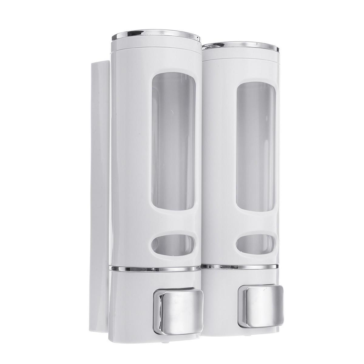2Pcs/Set 400ML Liquid Soap Dispenser Wall Mounted Hand Sanitizer Shower Gel Shampoo