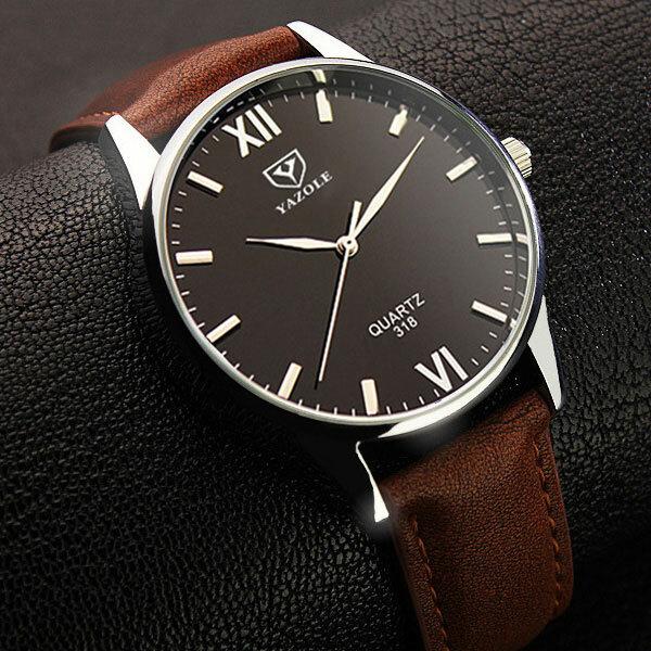 Đồng hồ nam YAZOLE 318 Hiển thị sáng Đồng hồ đeo tay phong cách giản dị Đồng hồ thạch anh