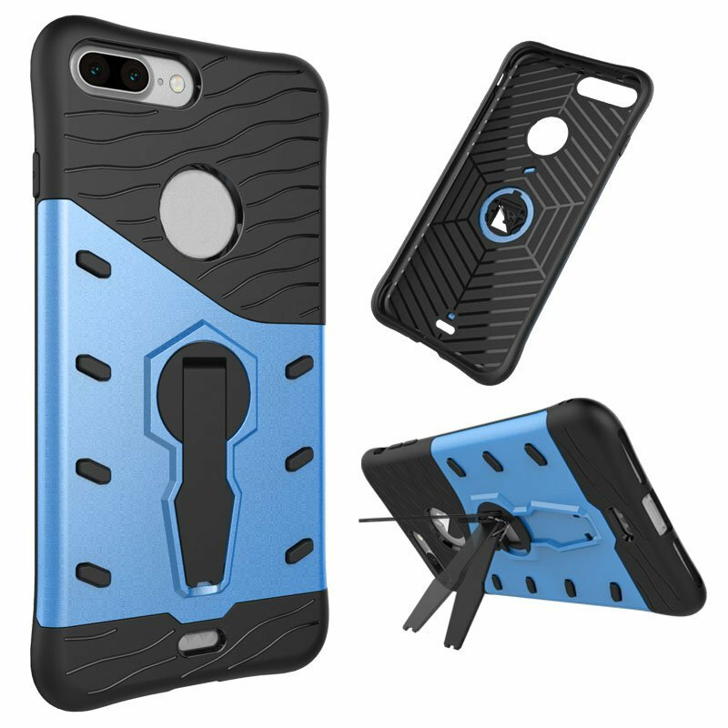 Roterende Kickstand Hybrid Plastic Silicone Case For iPhone 7 Plus/8 Plus