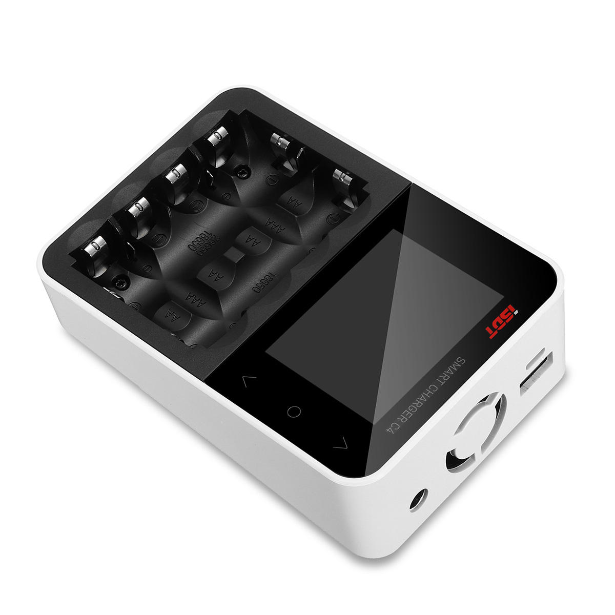 ISDT C4 8A Touch Screen Smart Battery Charger With USB Output For 18650 26650 AA AAA Battery - 8