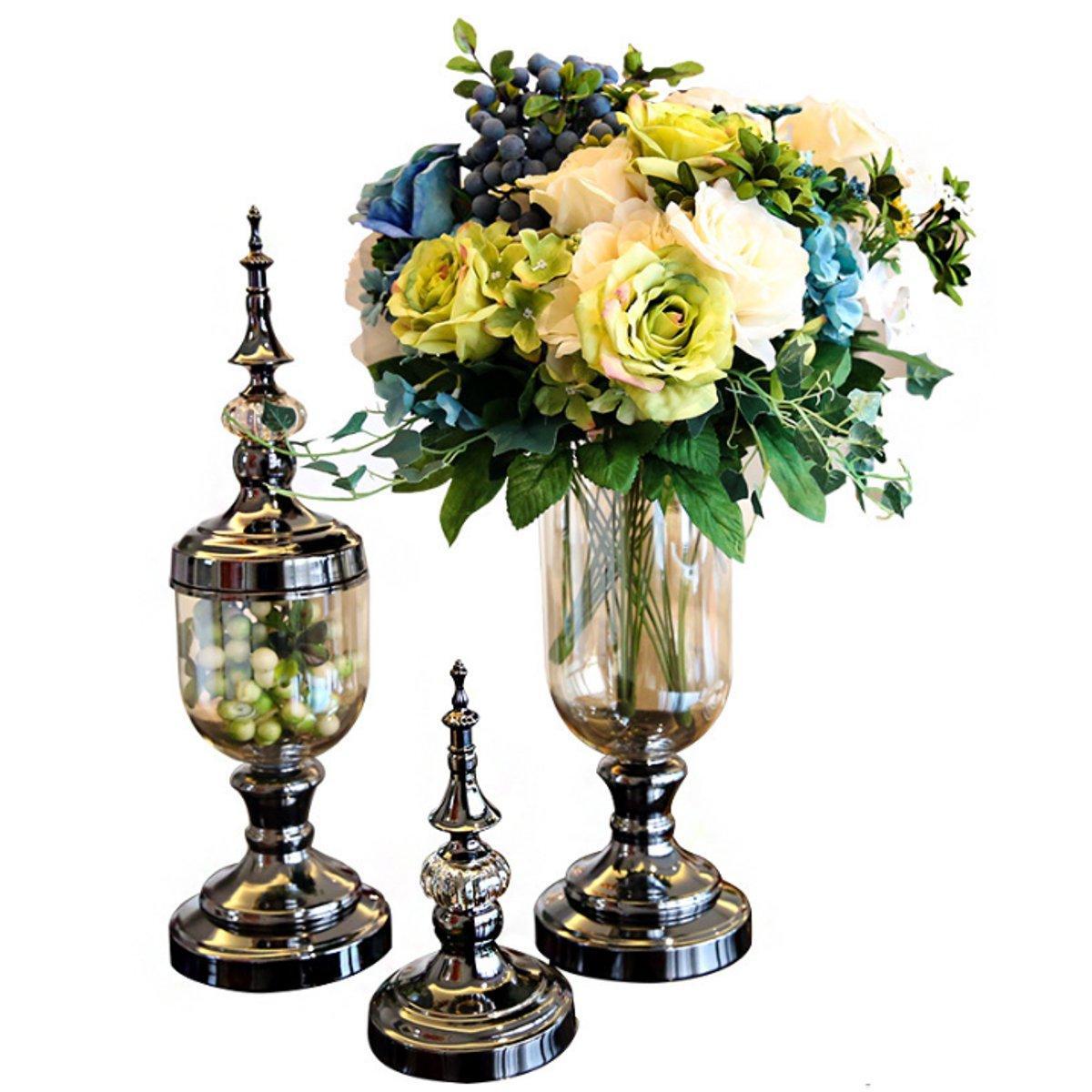 Retro Flower Stand Chic Indoor Garden Metal Plant Holder Display Planter Vase - 1