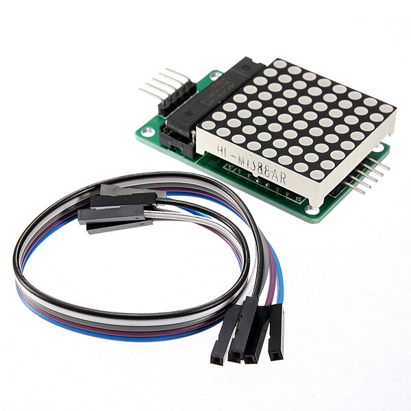MAX7219 Dot Matrix MCU LED Display Control Module Kit With Dupont Cable Geekcreit for Arduino - products that work with official Arduino boards