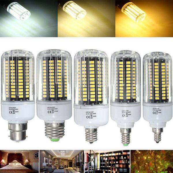 E27 E17 E14 E12 B22 18W 100 SMD 5736 LED Pure White Warm White Natural White Corn Bulb AC85 265V - 1