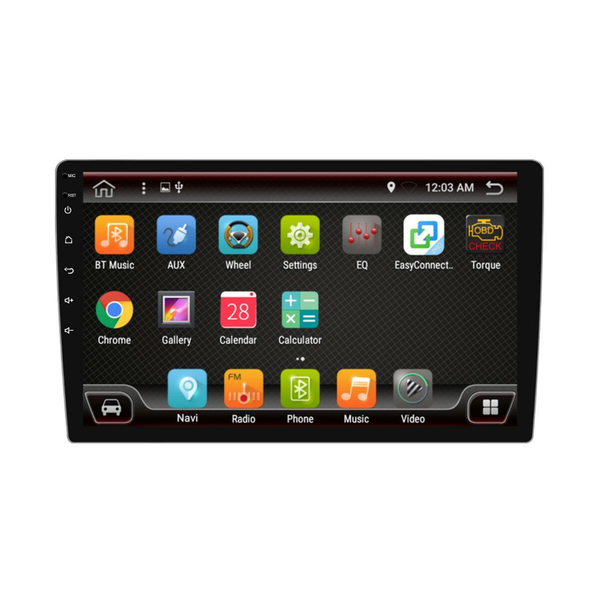 PX6 10.1 इंच 1 डीआईएन 4 + 64 जी एंड्रॉइड 9.0 कार एमपी 5 प्लेयर 8 कोर टच स्क्रीन स्टीरियो GPS ब्लूटूथ आरडीएस एफएम ए
