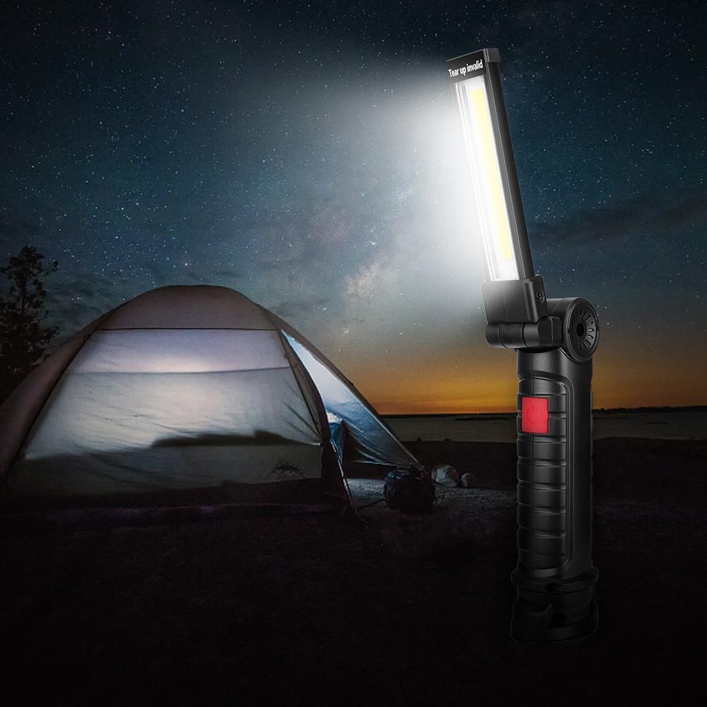LED المحمولة التفتيش البوليفيين العمل ضوء البطارية المغناطيس بدعم طوي التخييم مصباح يدوي الشعلة مصباح