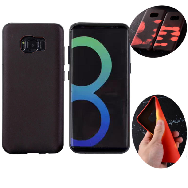 best website 096a5 24709 Physical Thermal Sensor Discoloration Soft TPU Anti Knock Back Cover Case  for Samsung Galaxy S8 Plus