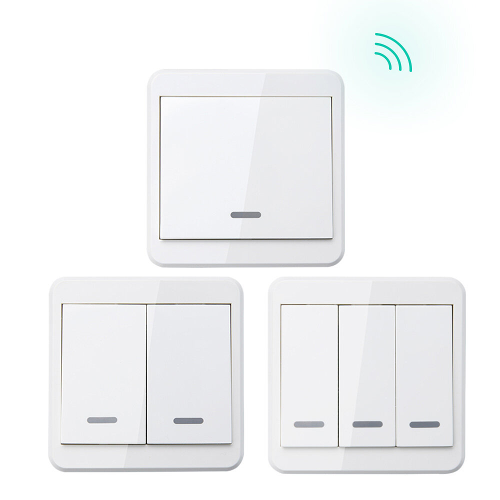 KTNNKG 433MHz Universal Wireless Remote Control 86 Wall Panel RF Transmitter With 1 2 3 Buttons For Home Room Lighting Switch