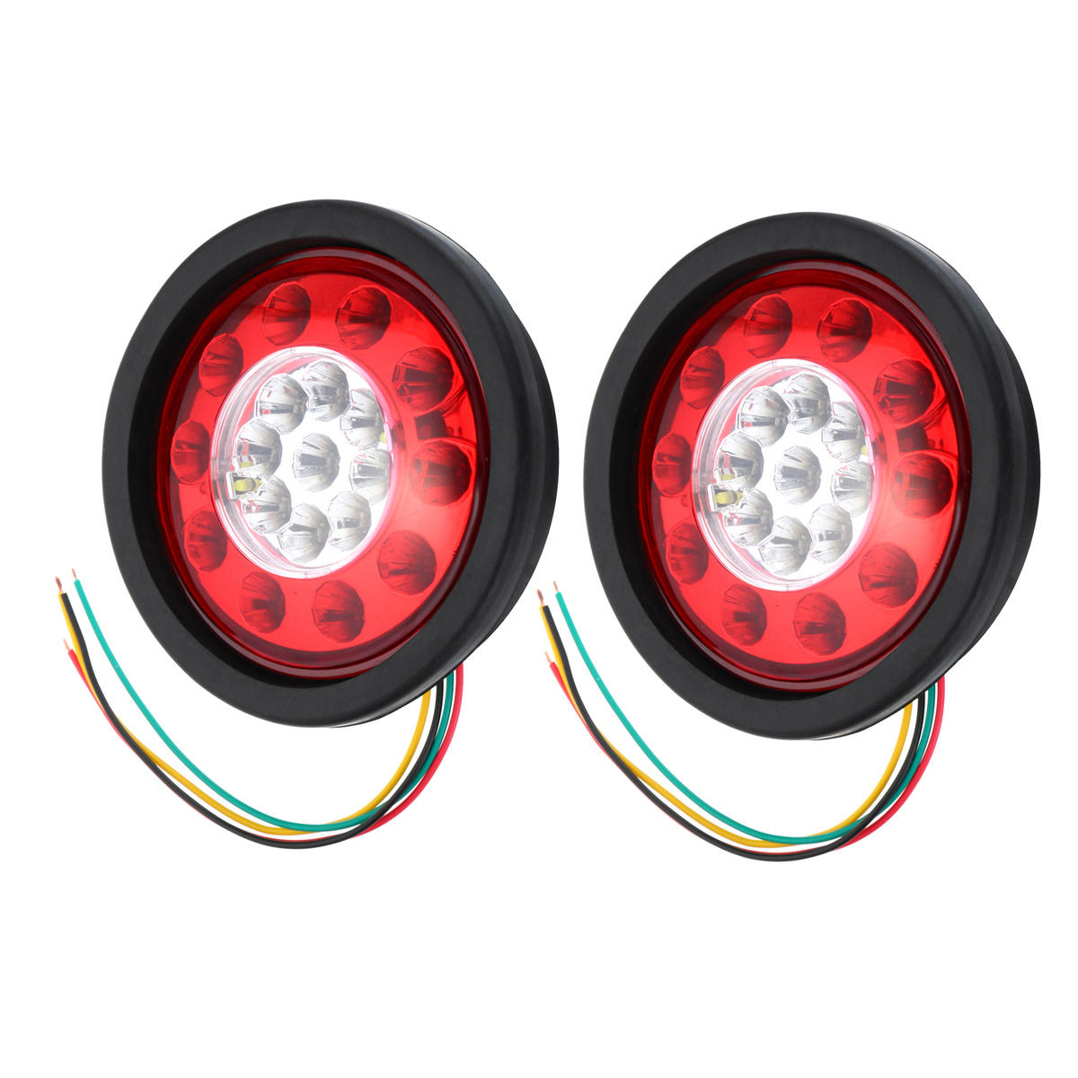 Led Truck Tail Lights >> 19 Led Truck Lorry Brake Lights Stop Turn Tail Lamp Black Rubber Turn Signal Stop Lights