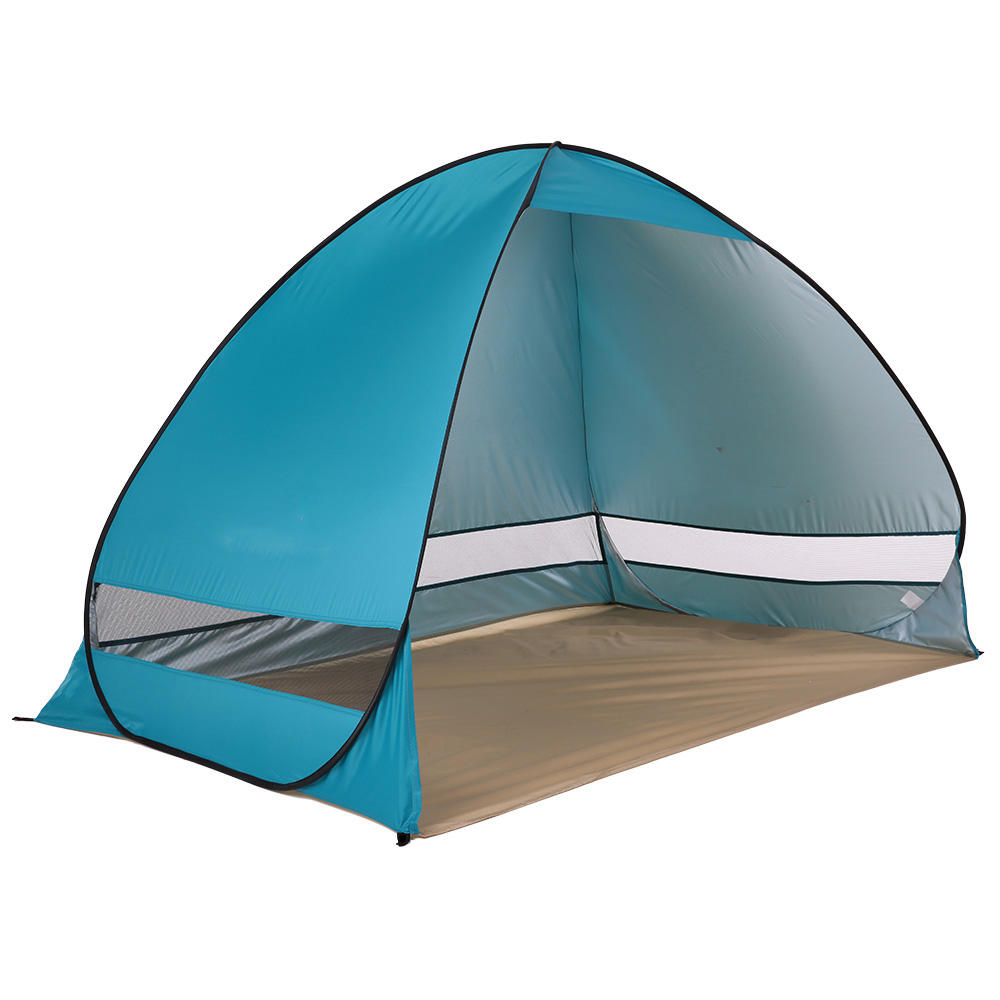 Outdoor 1-2 Person Camping Tent Quick Automatic Open Waterproof UV Beach Sunshade Canopy
