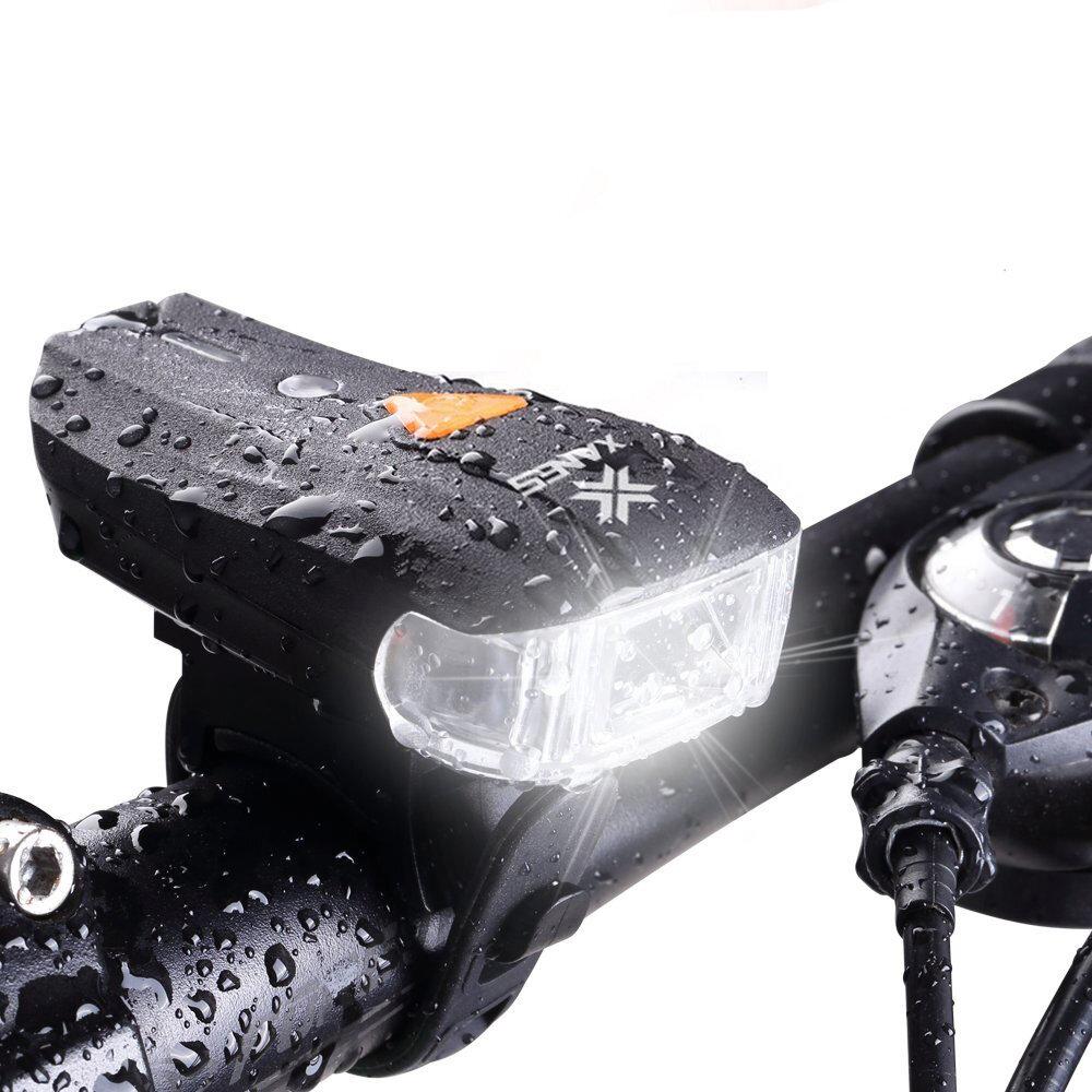 XANES SFL-01 600LM XPG + 2 LED Bicycle German Standard Smart Sensor Warning Light Waterproof Bike Front Light Headlightt Flashlight 5 Modes USB Charging Night Riding