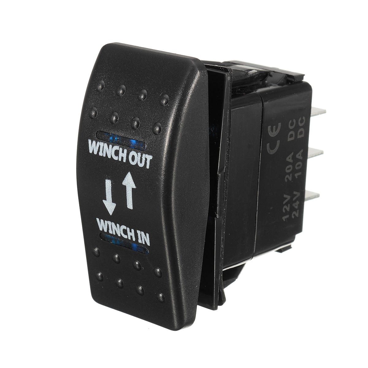 12V 20A (ON) -OFF- (ON) Interruttore a bilanciere Momentary Winch in Winch Out LED 7 pin