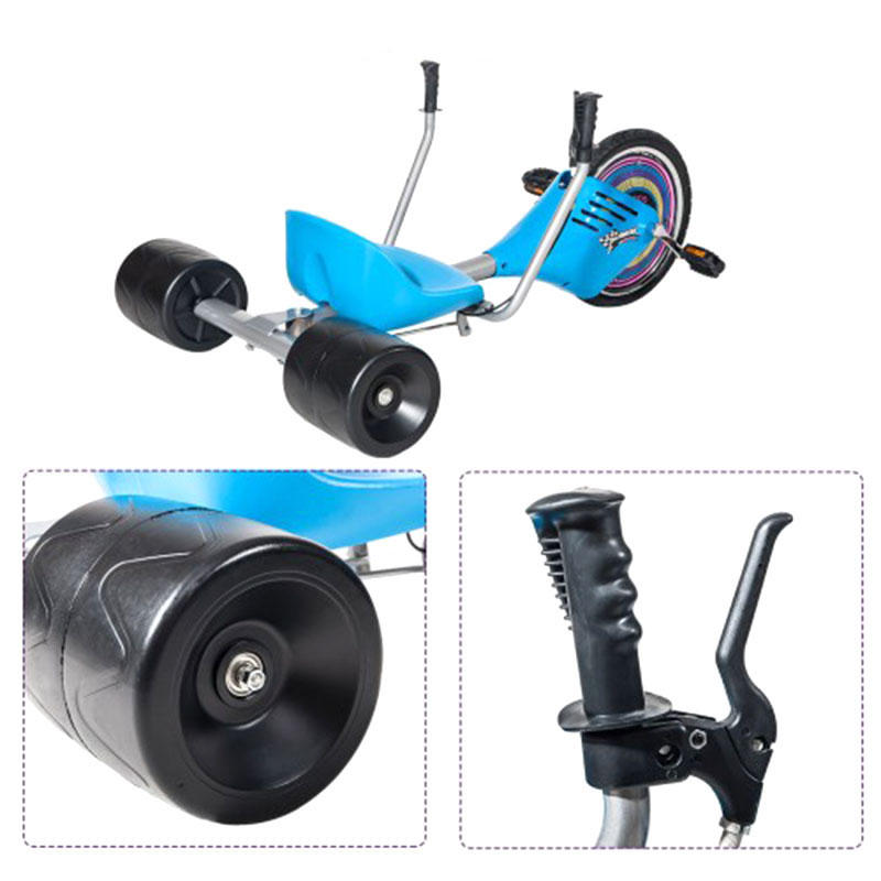 Children's Drift Trike Big Wheel Machine Bike with Sturdy Steel Frame - 4