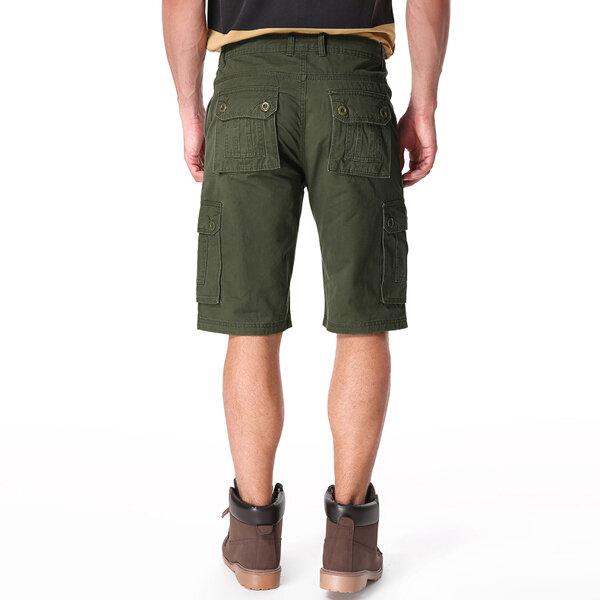 Outdoor Multi-pocket Cotton Cargo Shorts - 10