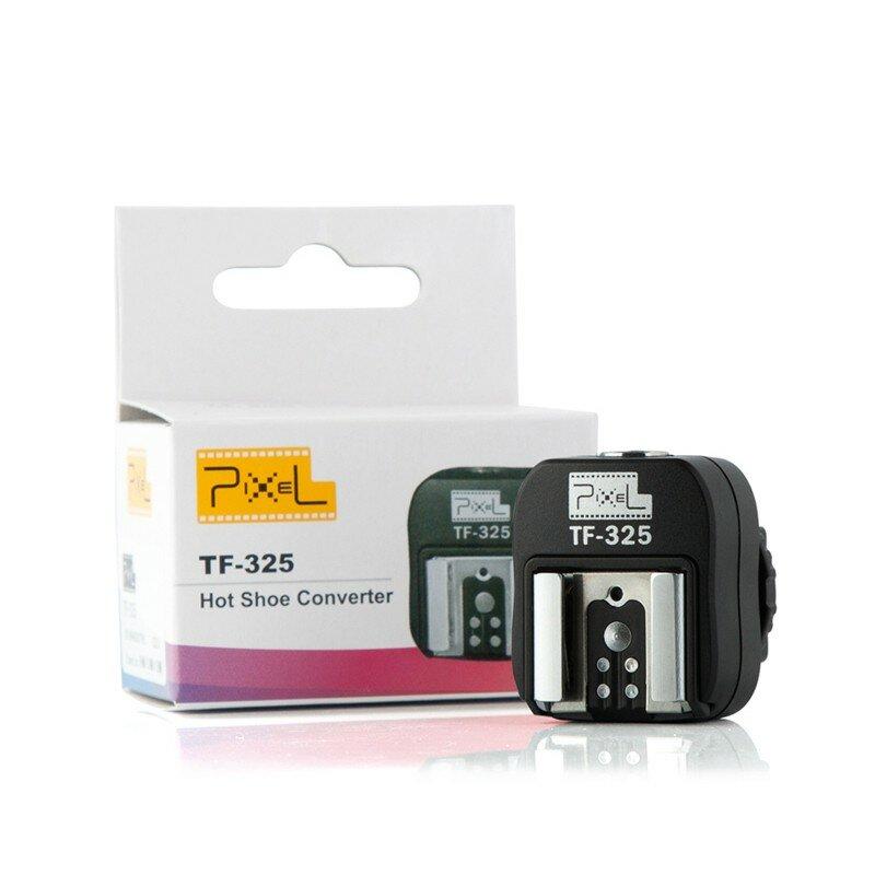 Pixel tf-325 adaptador de adaptador de zapata caliente a la toma de sincronización pc para sony alpha minolta konica