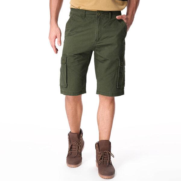 Outdoor Multi-pocket Cotton Cargo Shorts - 7