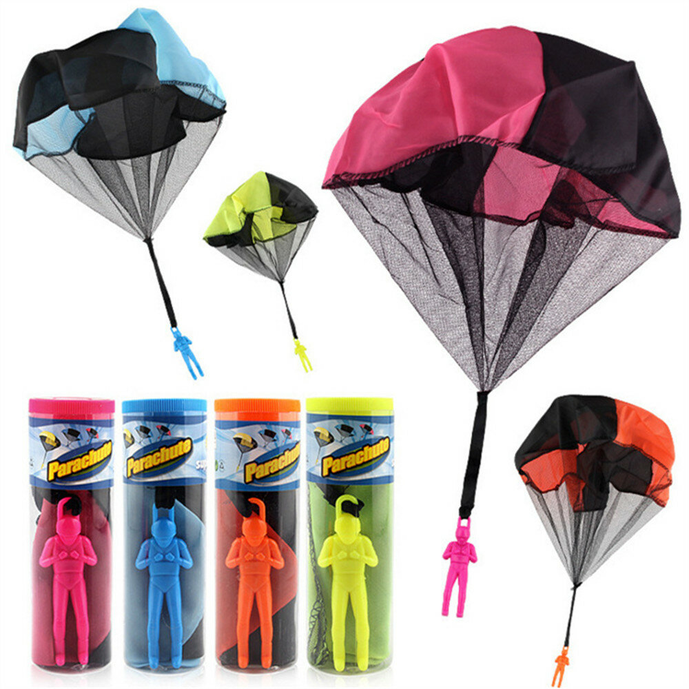 Parachute Toy Throw and Drop outdoor Fun Toy Outdoor Sports Toys Random Color With Soldier Doll - 1
