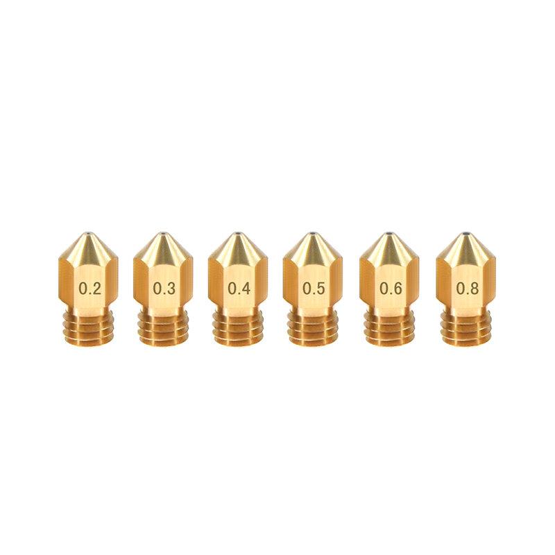 Латунное сопло TWO TREES® 1,75 мм M6 Резьба 0,2 / 0,3 / 0,4 / 0,5 / 0,6 / 0,8 мм для 3D-принтера
