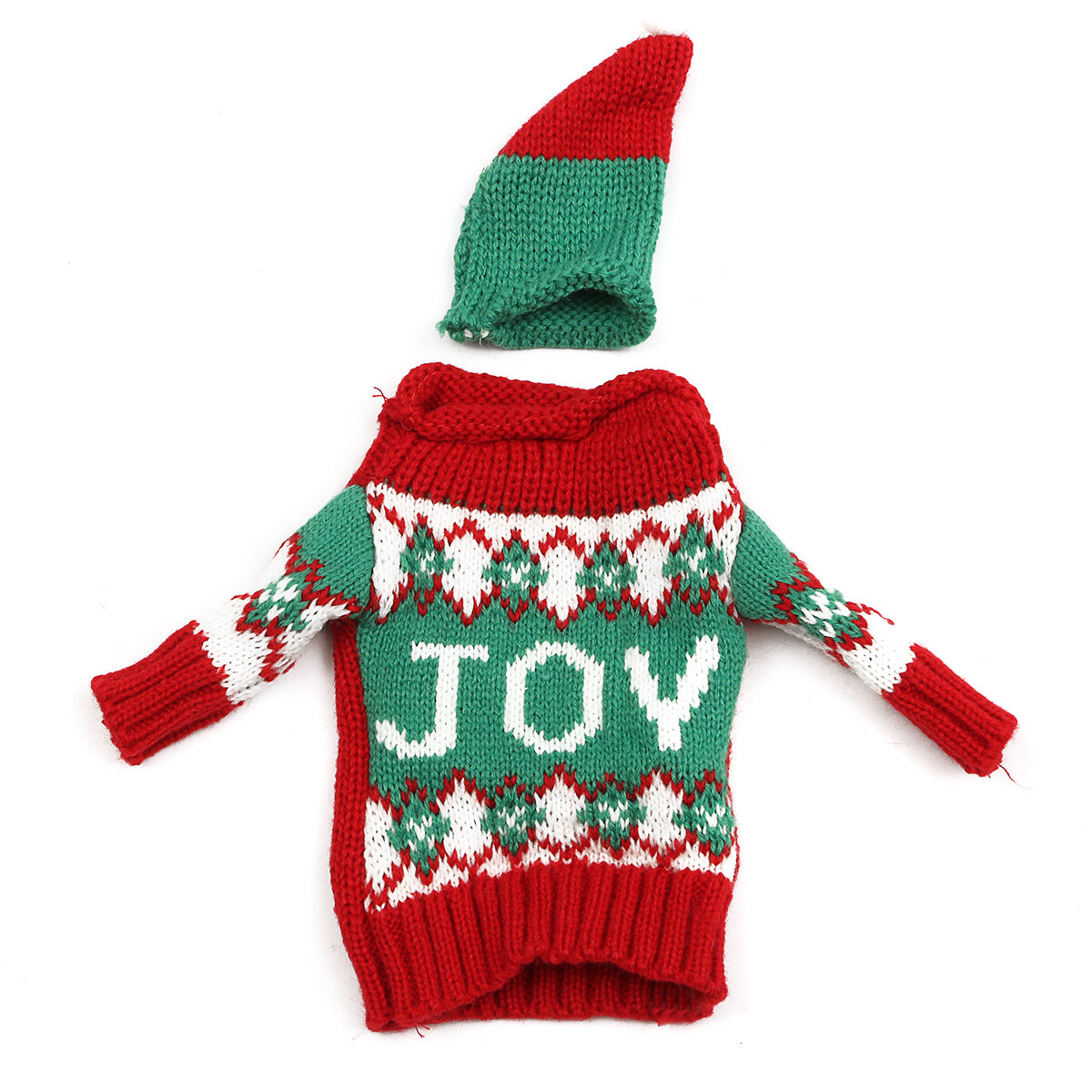 Christmas Knitted Sweater Lid Hat Wine Bottle Cover Wrap Bag Xmas Decoration - 6