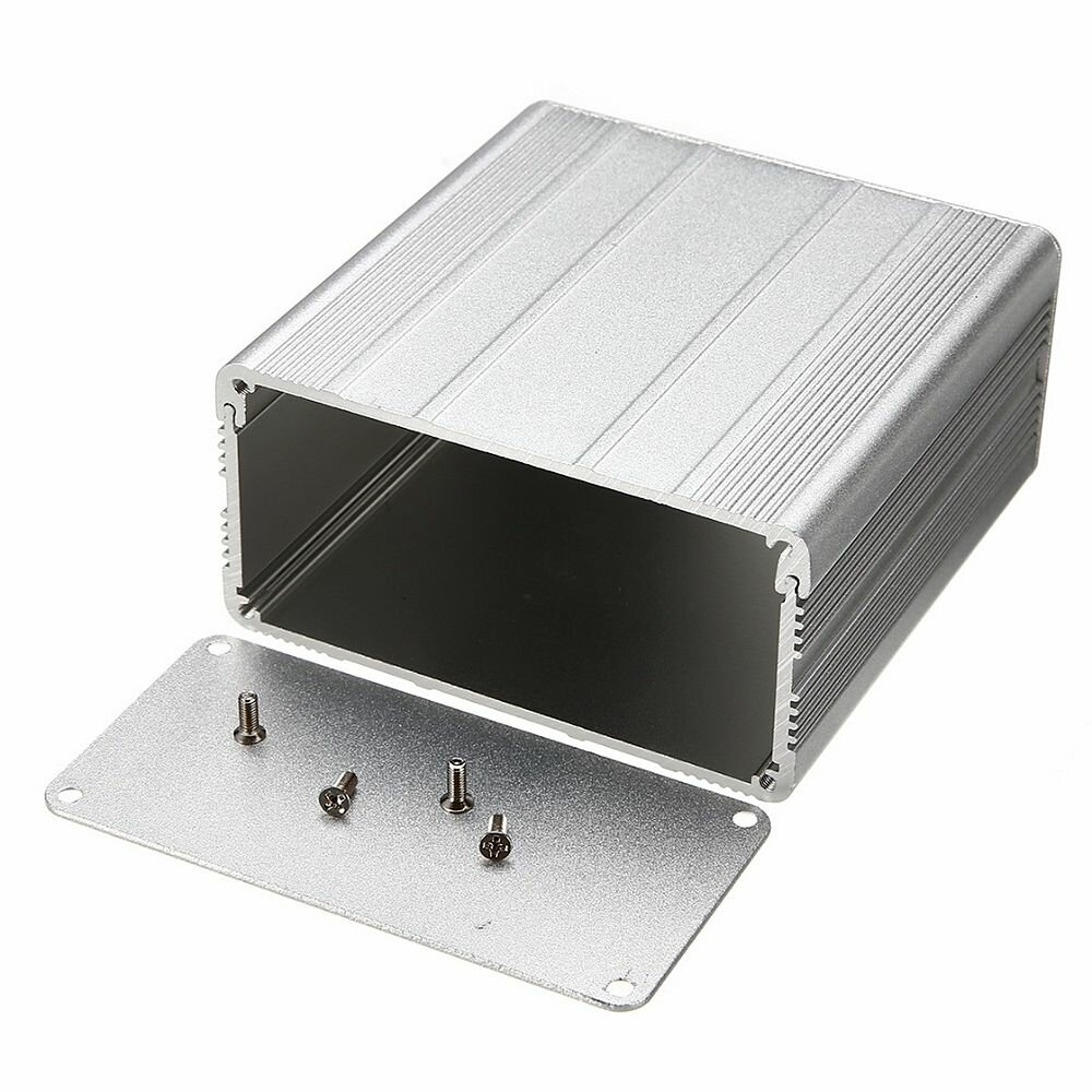 Серебряный алюминиевый корпус для электронных устройств Коробка DIY Печатная плата электронного проекта Коробка Водонепр