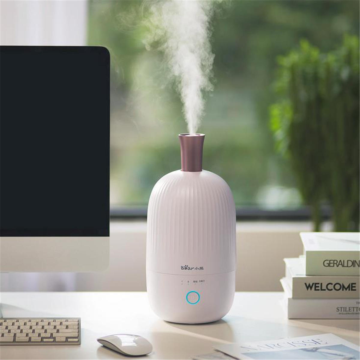 Bear JSQ-B20L1 2L 30W Anion Air Humidifier Aroma Diffuser Purifier Fog Mist Maker Home Office