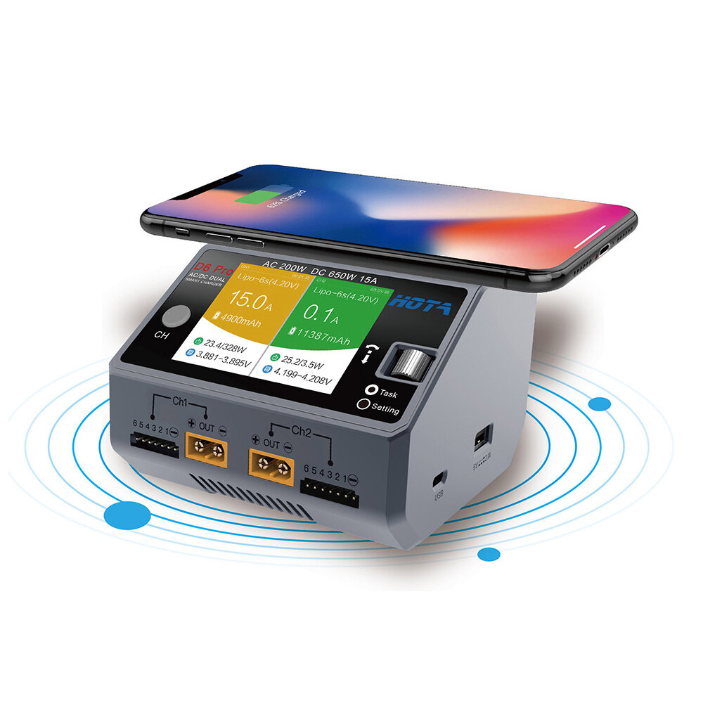 HTRC T240 DUO AC 150W DC 240W 10A Touch Screen Dual Channel Battery Balance Charger Discharger - 3