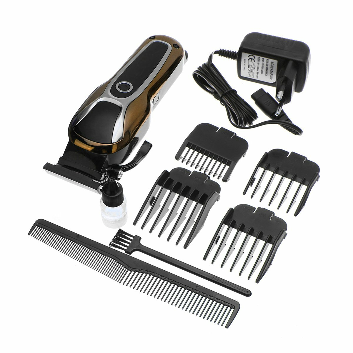 USB T9 Carving Push White Small Fader Oil Head Electric Clipper Rechargeable Electric Hair Clipper - 2