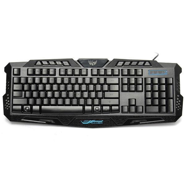 M200 usb 3 colori LED retroilluminato tastiera gaming cablata - 1