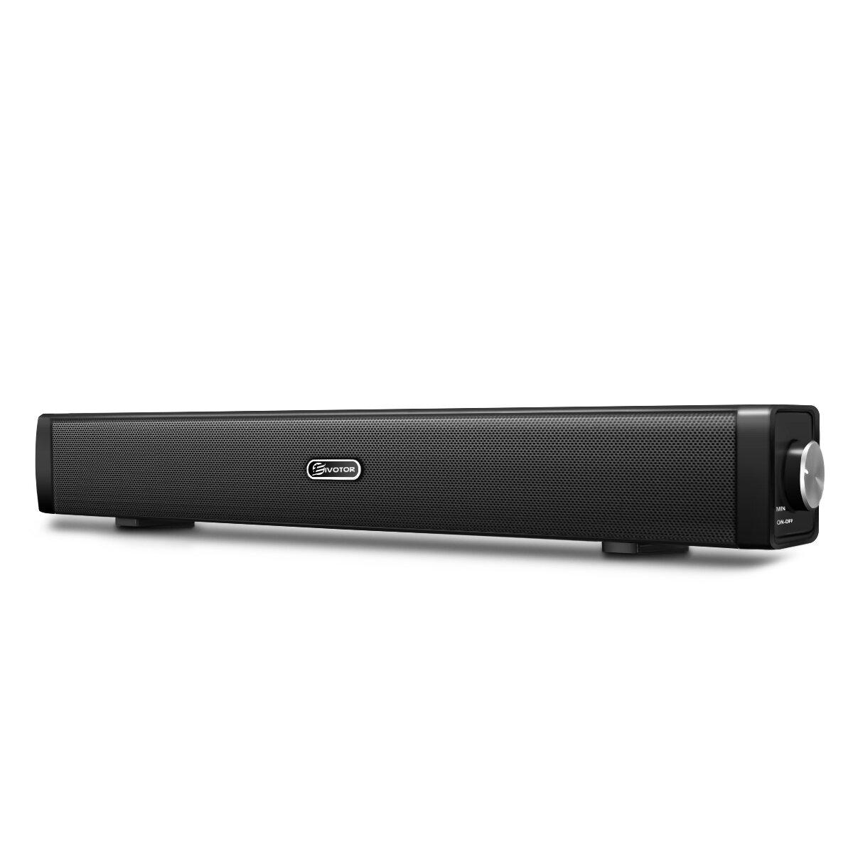EIVOTOR USB Mini bluetooth Soundbar Speaker for Computer Desktop Laptop