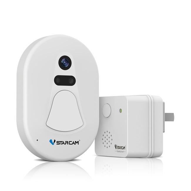 VStarcam D1 WiFi Snapshot Night Vision Doorbell Video Camera Support IOS Android Phone Cloud Server