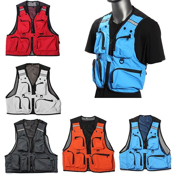 Leisure Multi-Pocket Vest Travelers Fly Fishing Photography Quick-Dry Jacket