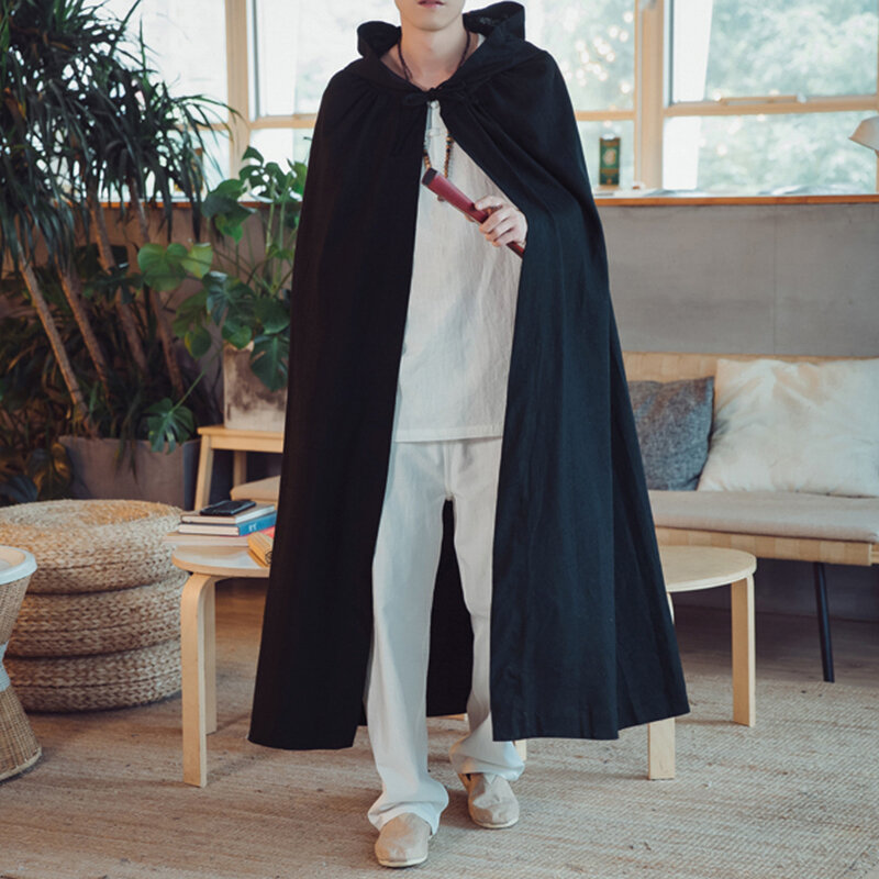Mens Fashion Solid Color Hooded Casual Trench Coats - 5