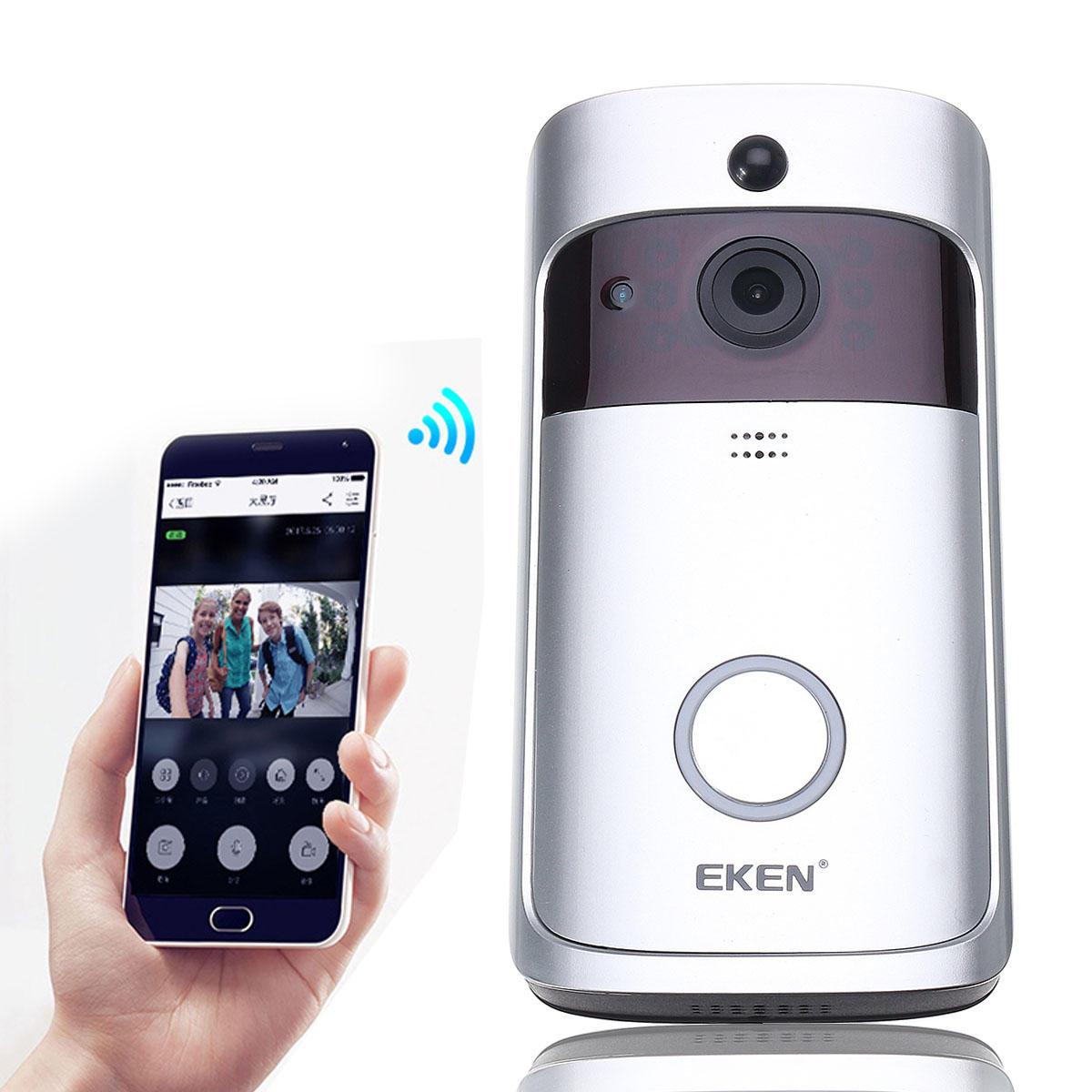 EKEN A8 Smart Wireless WiFi Video Visible Doorbell Motion Detection Wide Angle 166° 8GB Internal Storage
