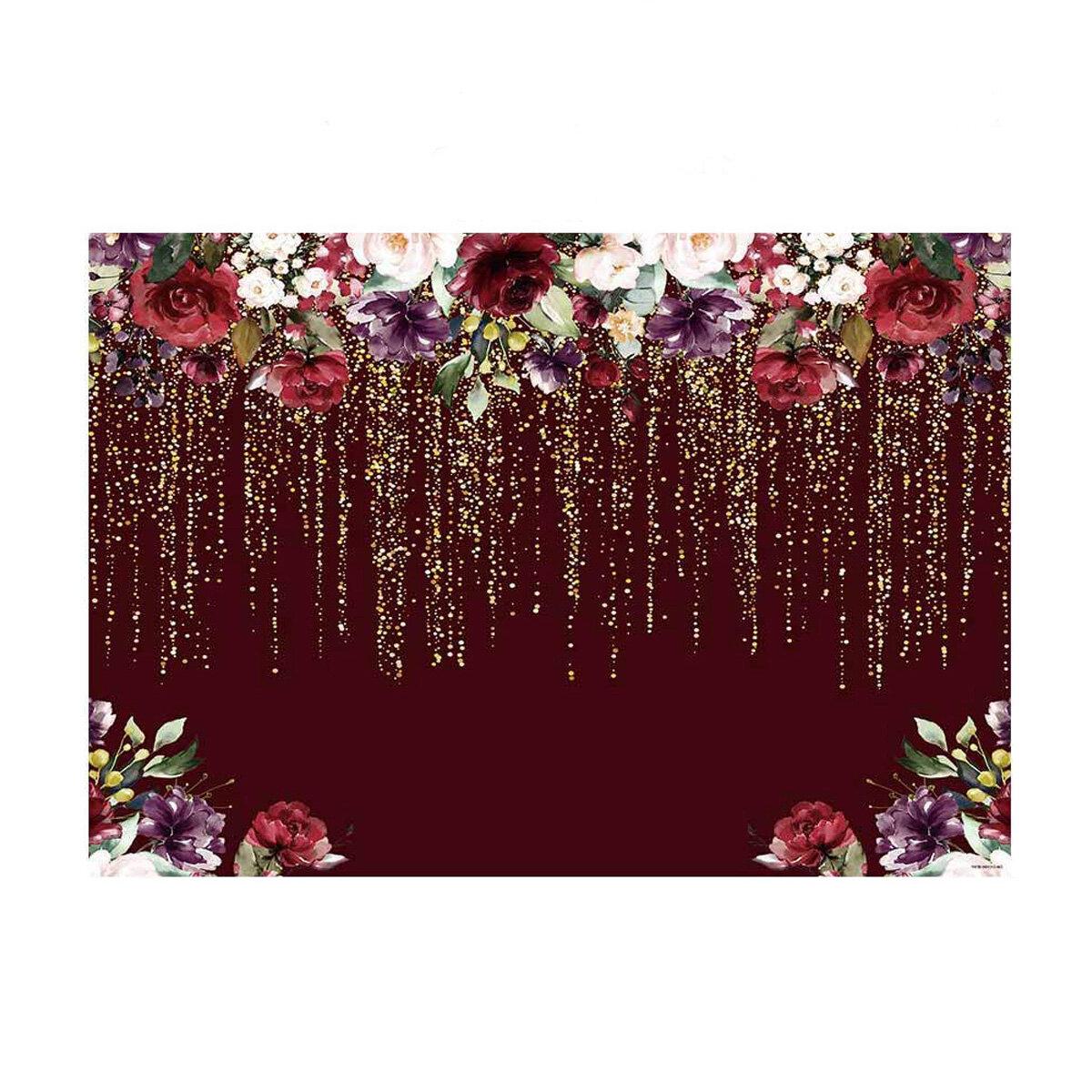 250 * 180 см фото фонов винил бордовый красные цветы фотография фон Soft ткань для новорожденного домашнего декора парти