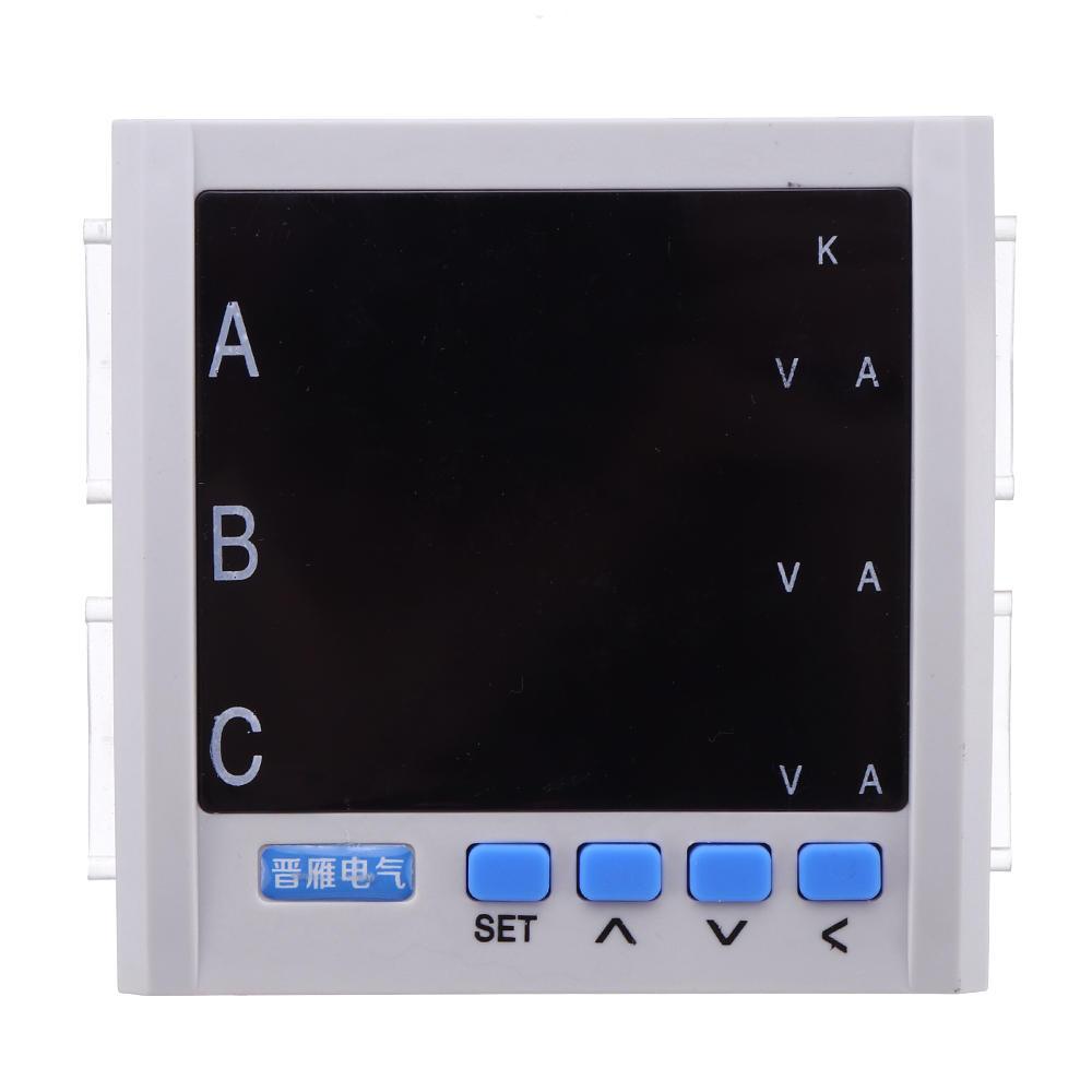 JY194E 3P Drei-Phasen-Multifunktions-Energiezähler Stromspannung 480V 55Hz LCD Anzeige Energiezähler