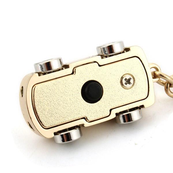 LED Light Mini Car Key Chain Ring Charm Luxury Couple Men Gift - 4