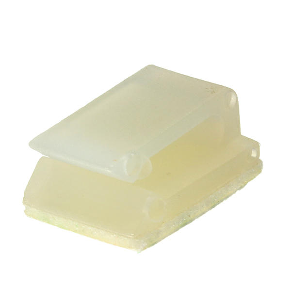 100pcs Electrical Cable Clamp White Plastic Wire Tie Rectangle Cable Mount Clip Clamp Self adhesive Wiring Accessories - 4
